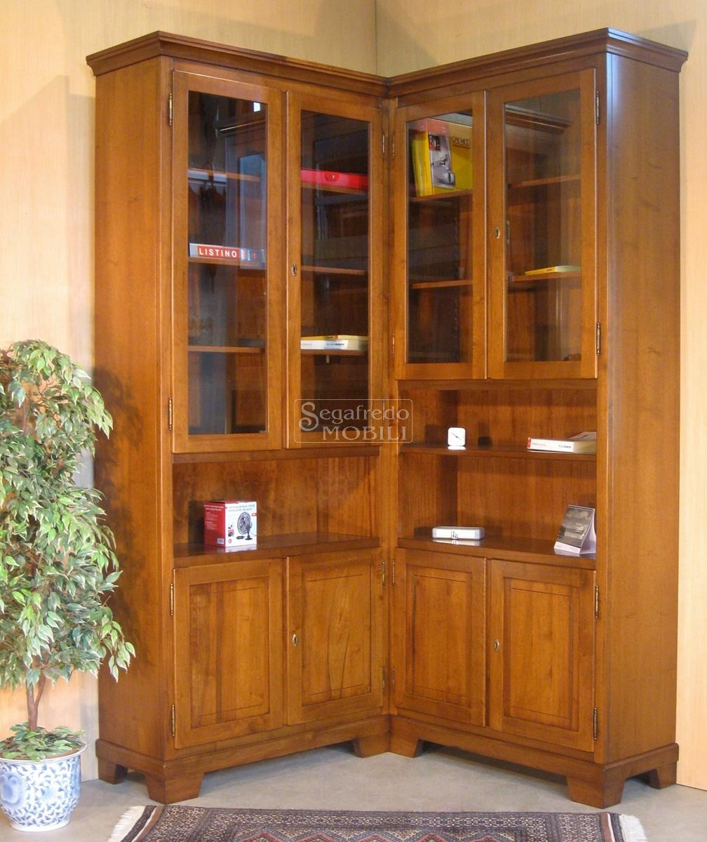 Mobile Libreria Ad Angolo.Mobile Libreria Su Misura Ad Angolo Mobilificio Segafredo Mobili