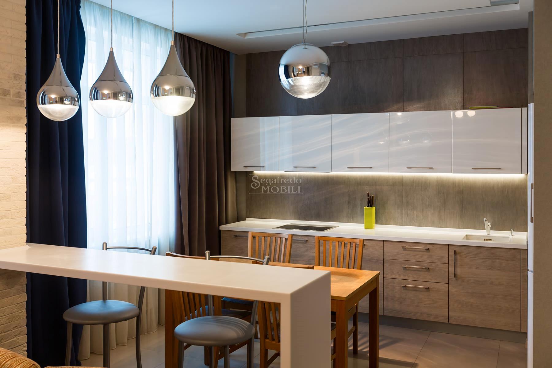 Pulizia Mobili Cucina Legno : Cucina finitura rovere e laccato lucido mobilificio segafredo