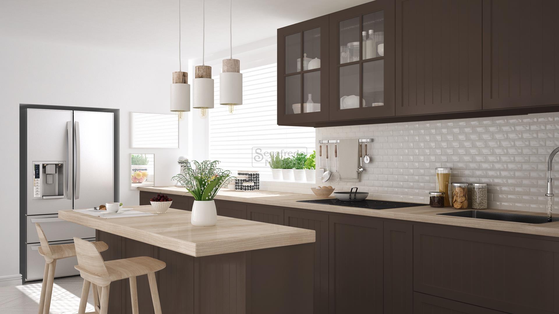 Pulizia Mobili Cucina Legno : Cucina con isola in legno laccato mobilificio segafredo mobili