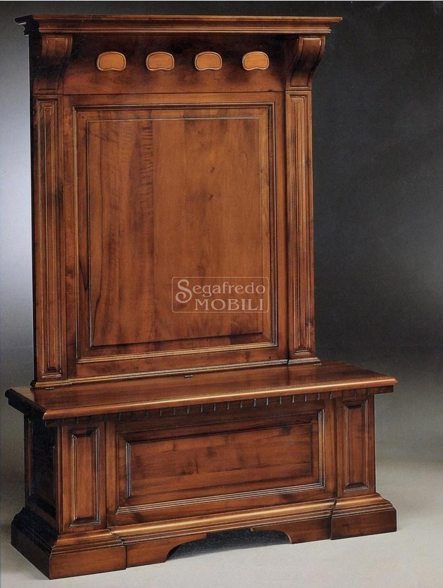 Appendiabiti Su Misura cassapanca in legno massello linea grazia con alzata