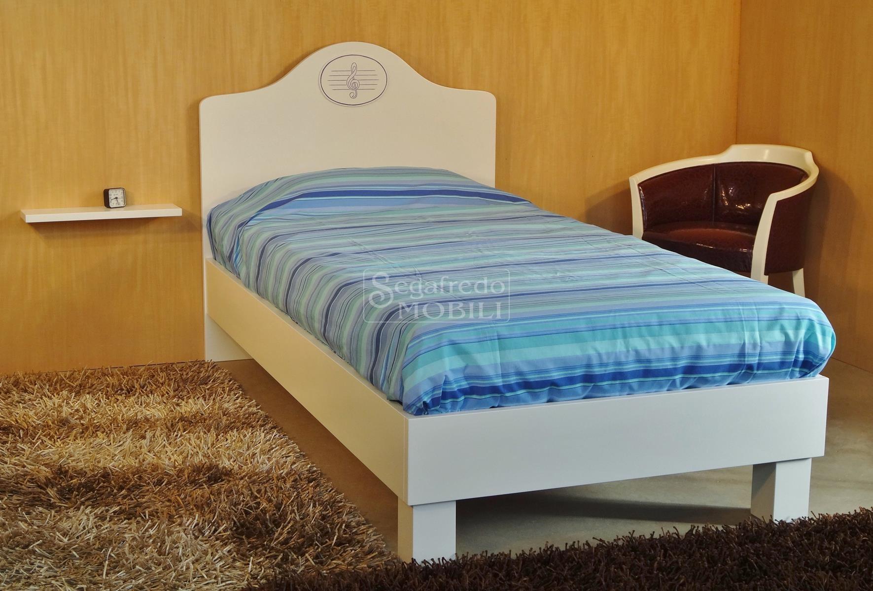 Letto singolo laccato mobilificio segafredo mobili arredamenti su misura vendita diretta - Sponde letto singolo ...