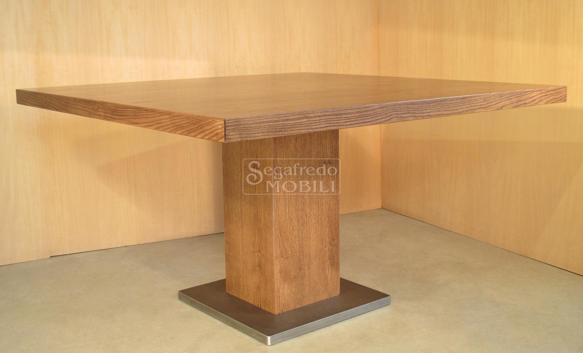 Tavolo in legno di frassino tinto mobilificio segafredo - Mobili effetto invecchiato ...