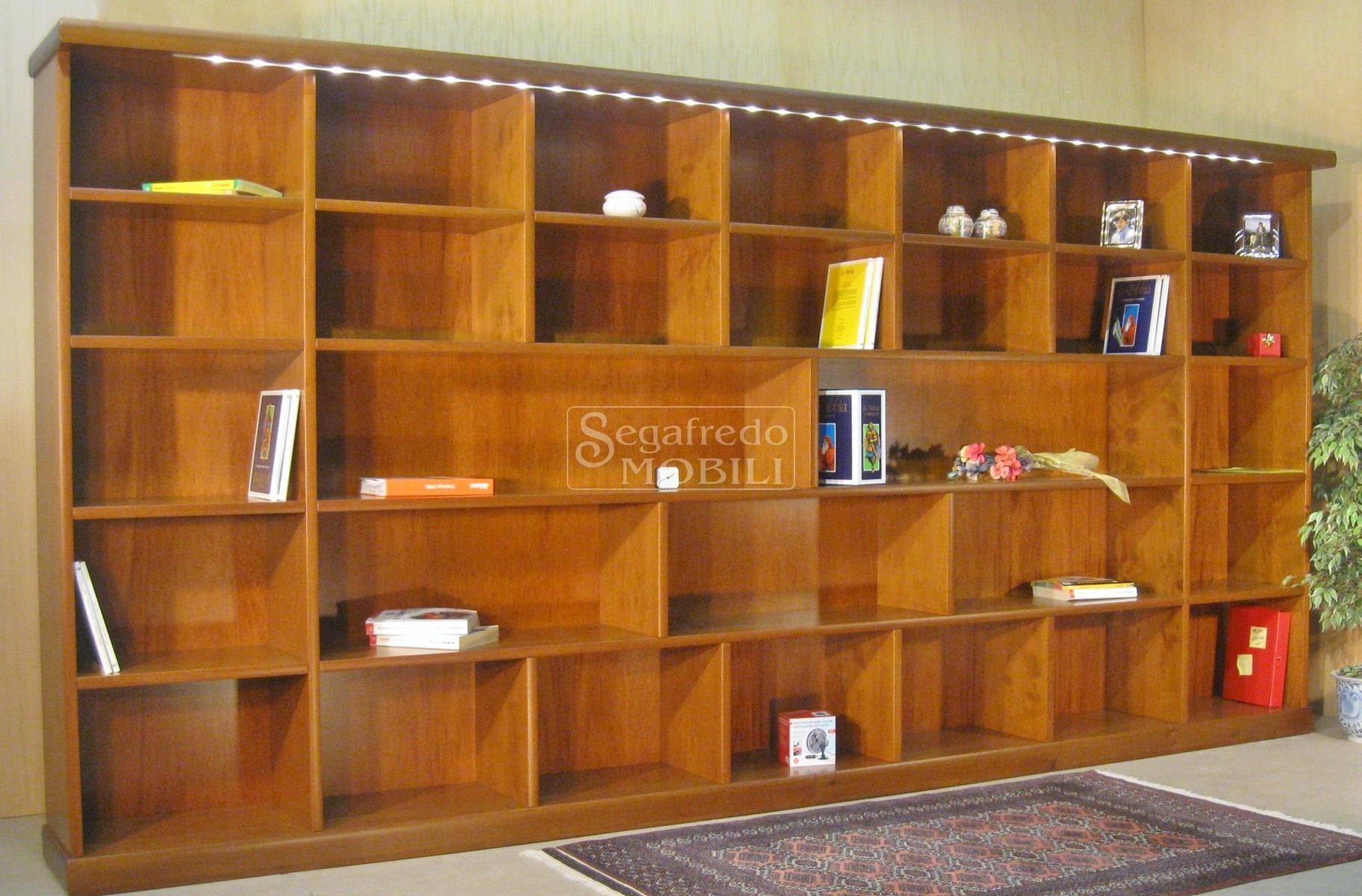 Mobile libreria parete su misura a giorno mobilificio - Mobile libreria a parete ...