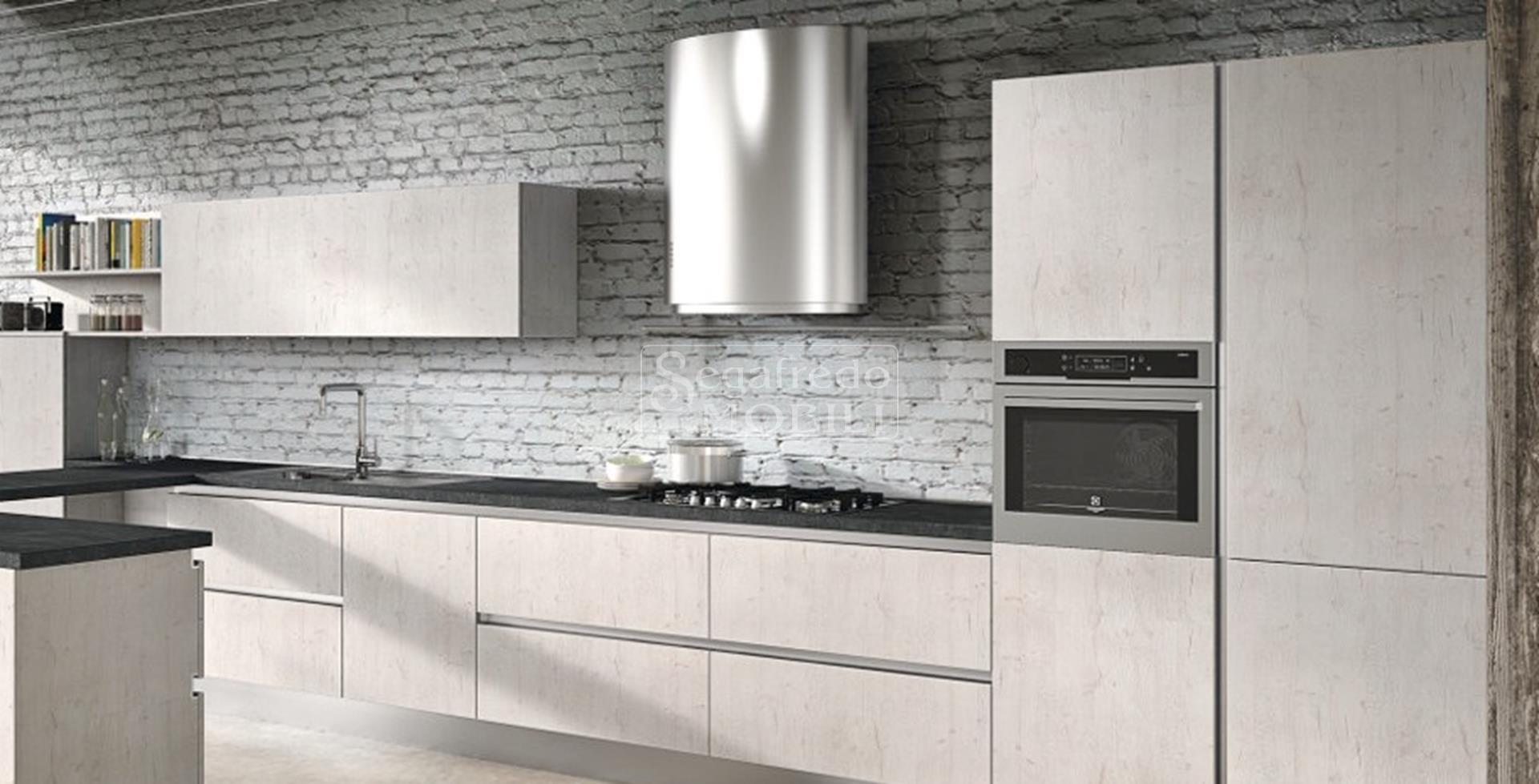 Cucina in legno rivestito da melaminico e laminato mobilificio segafredo mobili arredamenti - Laminato in cucina ...