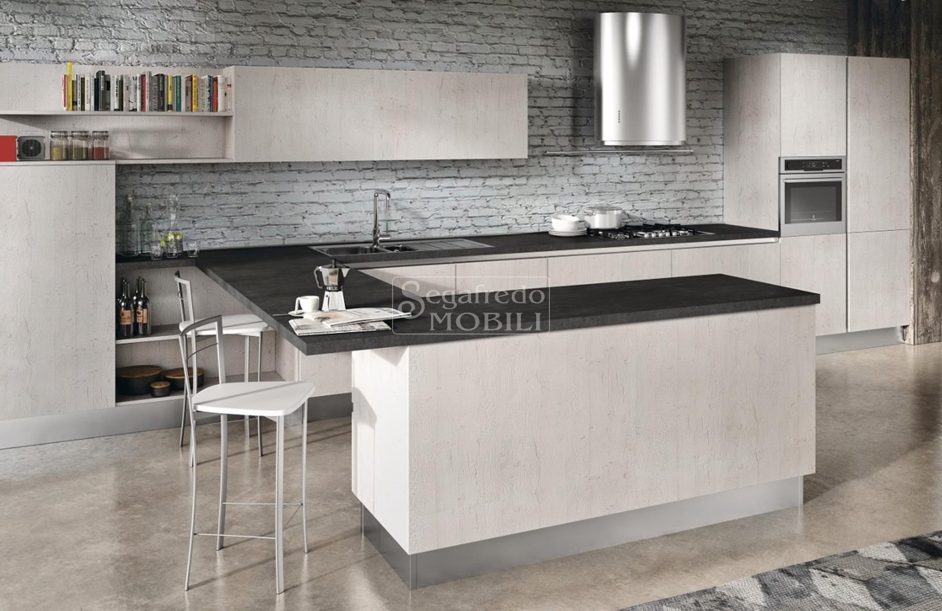 Cucina in legno rivestito da melaminico e laminato - Laminato in cucina ...