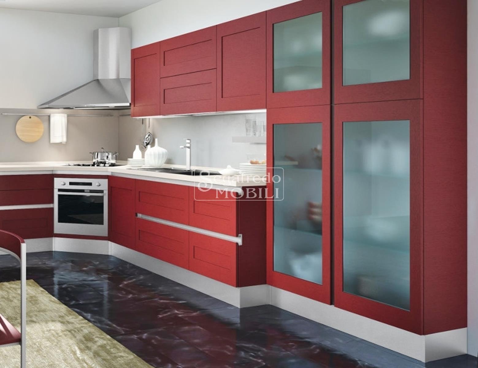 Proposta di cucina laccata su misura sviluppata ad angolo mobilificio segafredo mobili - Mobili cucina su misura ...