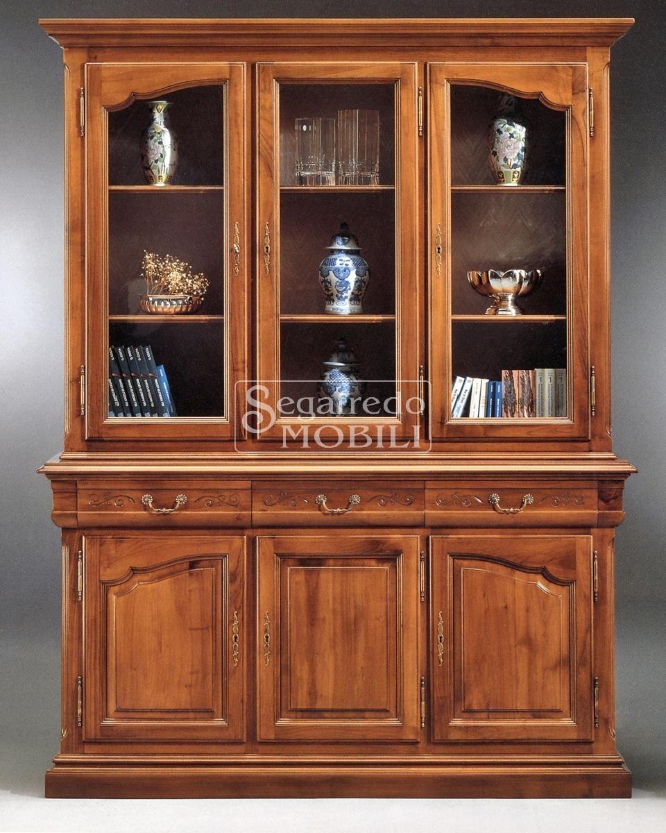 Cristalliera libreria sagomata linea katia in legno for Katia arredamenti